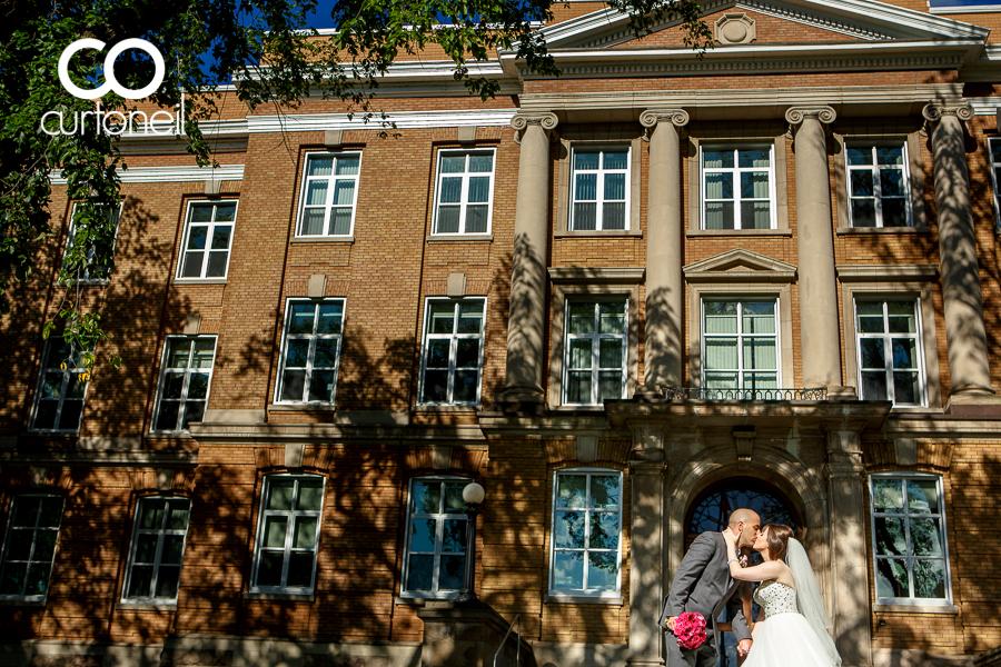 Sault Ste Marie Wedding Photography - Lindsay and Emilio - sneak peek, courthouse, shadows
