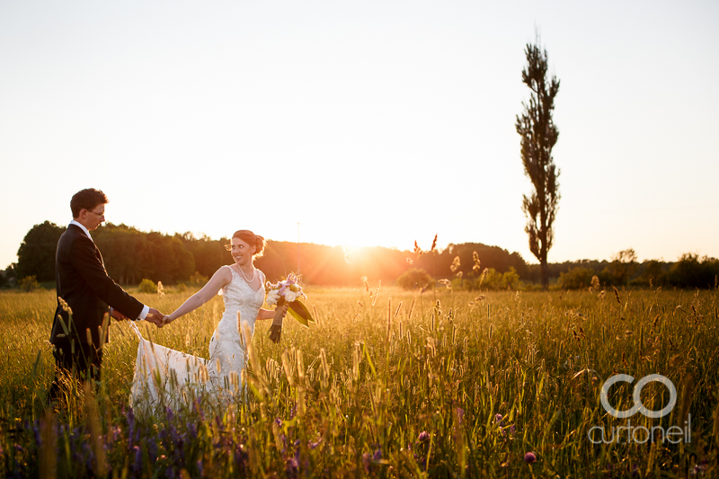Sault Ste Marie Wedding Photography - Rachel and Adam - sneak peek at dusk on St. Joseph Island
