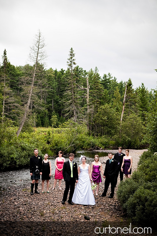 Sault Ste Marie Wedding - Rebecca and Brent - party on the rocks