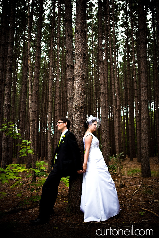 Sault Ste Marie Wedding - Rebecca and Brent - in the trees