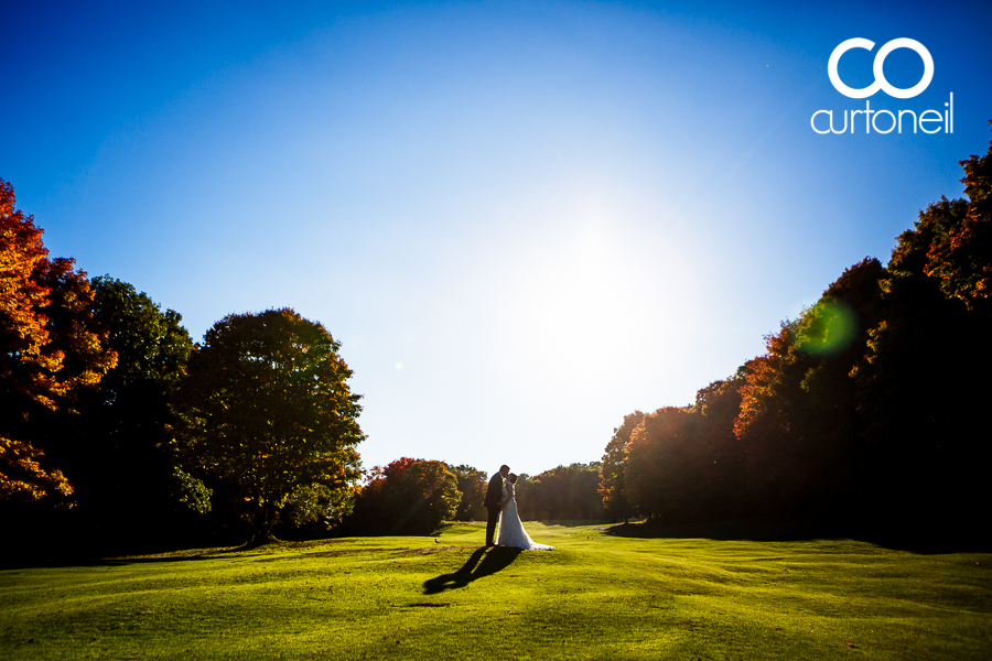 Sault Ste Marie Wedding Photography - Rebecca and Ryan - sneak peek from Root River Golf Club on a gorgeous fall day