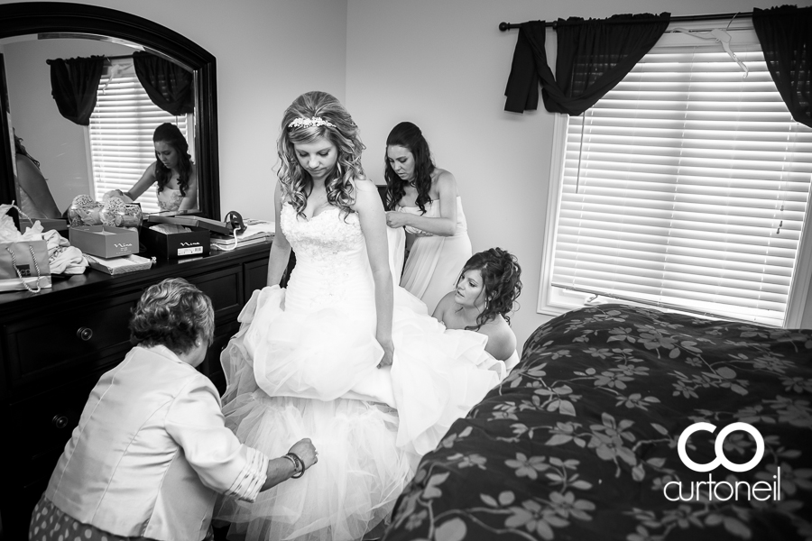 Sault Ste Marie Wedding Photography - Shannon and Eric - first look, Water Tower Inn, Wishart Park, summer