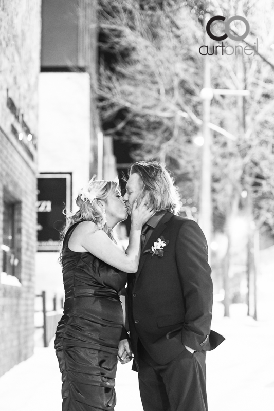 Sault Ste Marie Wedding Photography - Stephanie and Andrew - Grand Theatre, winter