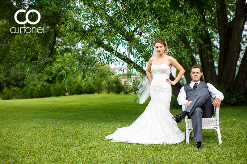 Sault Ste Marie Wedding Photography - Steph and Dan - summer, wedding, backyard