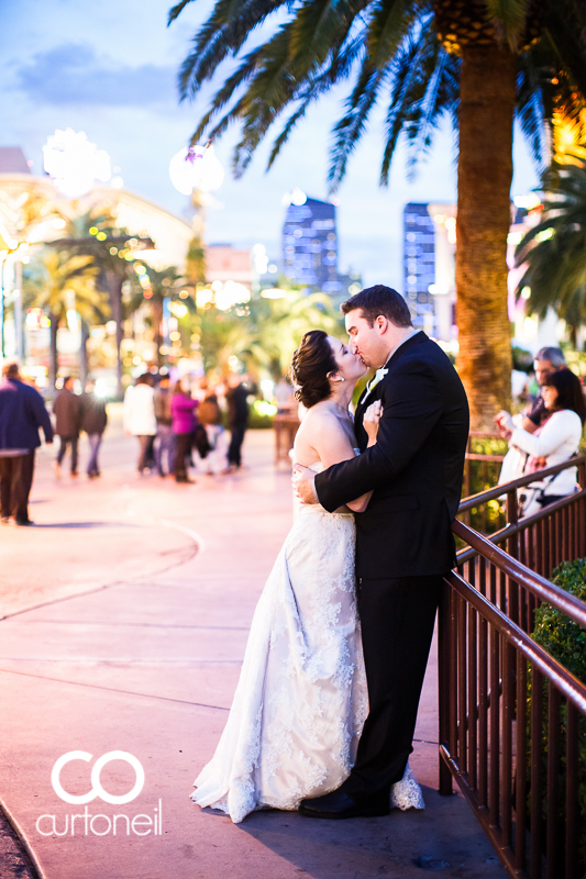Las Vegas Wedding Photography - Tricia and Marc - Las Vegas, Mirage, The Strip at night
