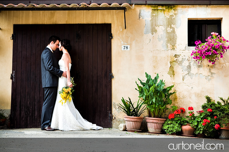 Tuscany Italy Wedding Michela and Aaron small Tuscan city