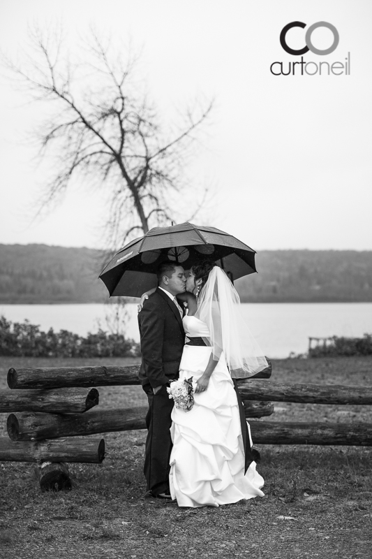 Sault Ste Marie Wedding Photography - Veronica and Gus - rainy day sneak peek Garden River