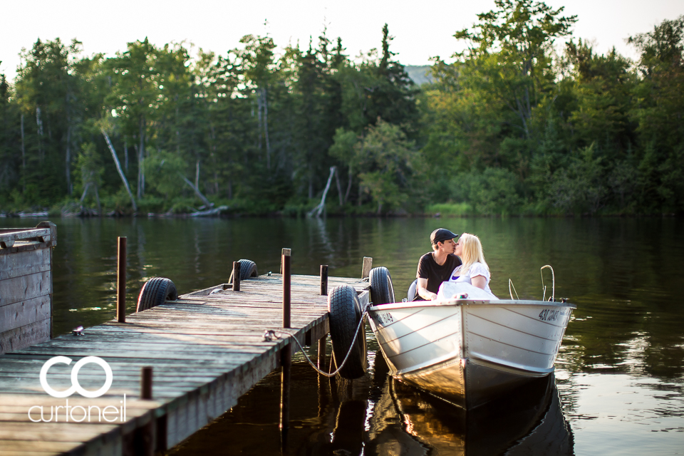 Amy and Mark - Sault Engagement - sneak, camp, boat, Northern Ontario