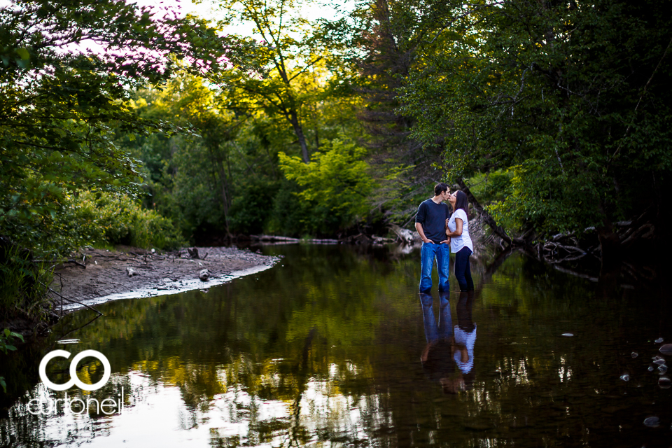 Cheyenne and Brennan - Sault Ste Marie Engagement - Sneak - Wishart Park