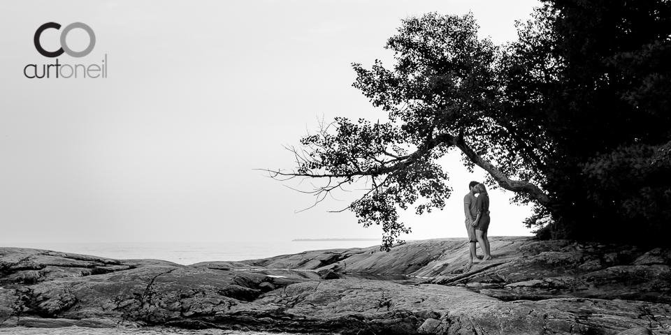 engagement-kejo-sneak-Kelsey and Joel - Sault Engagement - Katherine Cove, Lake Superior, Provincial Park