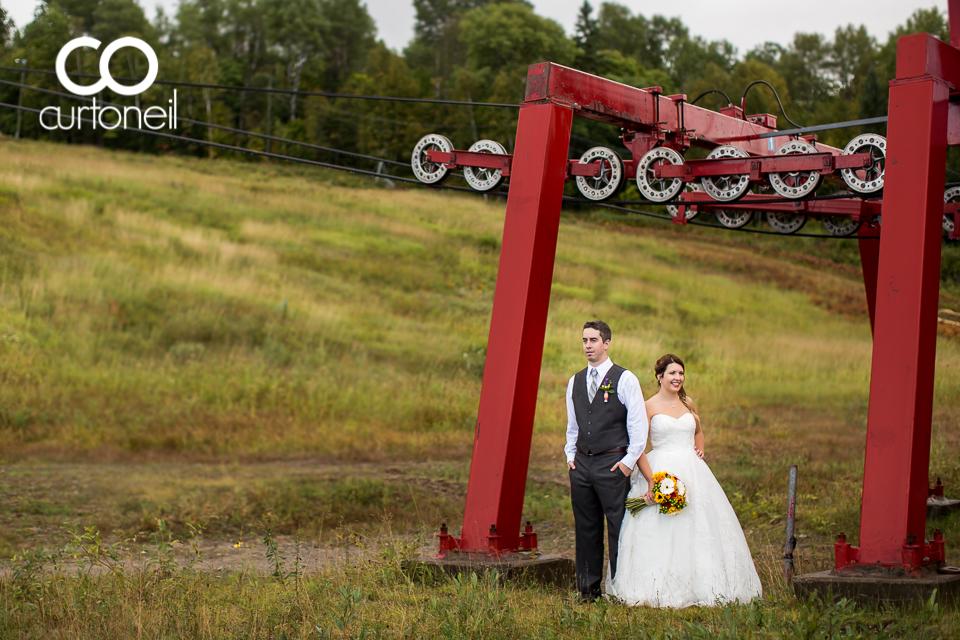 Baillee and Tom - Searchmont, ski lift, wedding, sneak peek