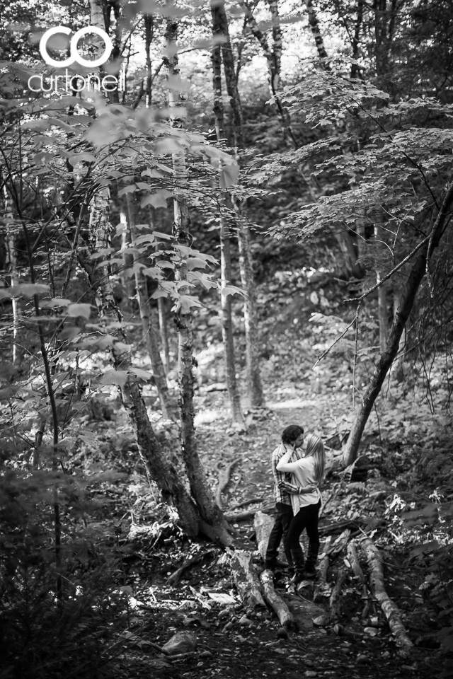 Karrah and Justin - Sault Engagement - Sneak - Gros Cap, Bluffs, trees