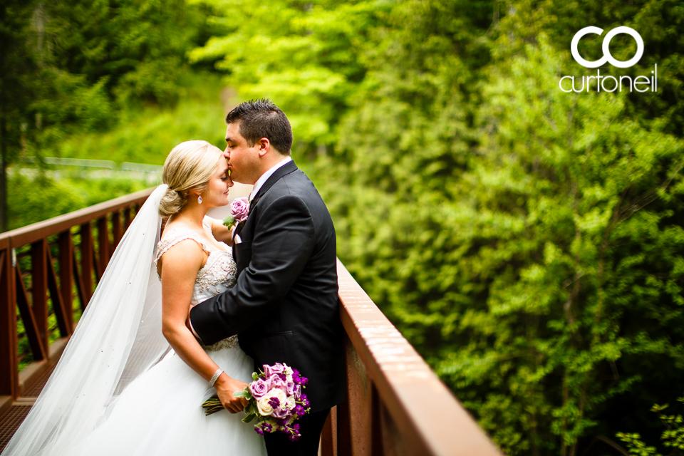 Kara and Tyler - Sault Wedding sneak peek at Fort Creek