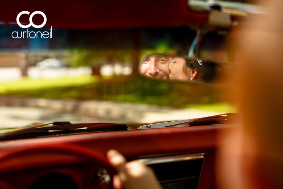 Ashley and Dante - Sault Wedding sneak peek in a 68 Camaro