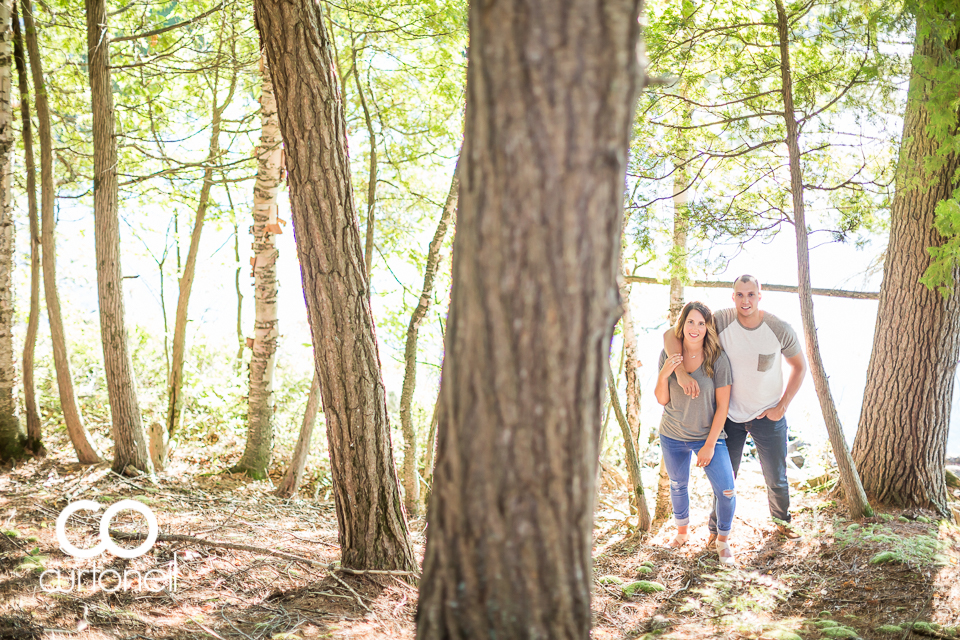 Brittany and Chris - Sault Engagement - Diamond Lake, canoe, camp