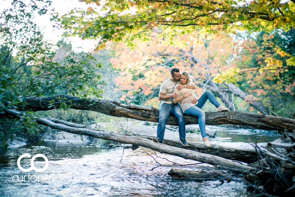 Sarah and Mike - Sault Maternity Session sneak peek Wishart Park