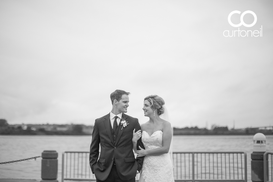 Katelin and Andrew - Sault Wedding Sneak peek - rainy day